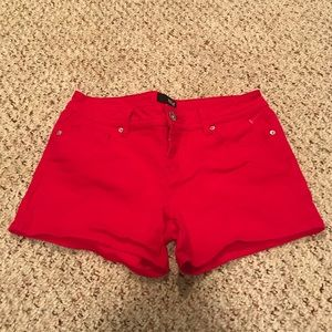 Ana jcpenney red denim shorts size women's 6